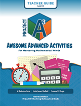 Project A3: Awesome Advanced Activities for Mentoring Mathematical Minds Level 3-4 Teacher Guide + 3 Year License