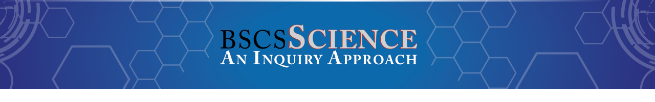 BSCS Science An Inquiry Approach Banner, high school science, BSCS curriculum