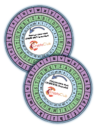 CryptoClub: Student Cipher Wheel Template; 12/pack
