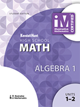 Illustrative Mathematics: Algebra I Student Edition Set