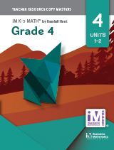 Illustrative Mathematics: Grade 4 Teacher Resource Copy Master Set