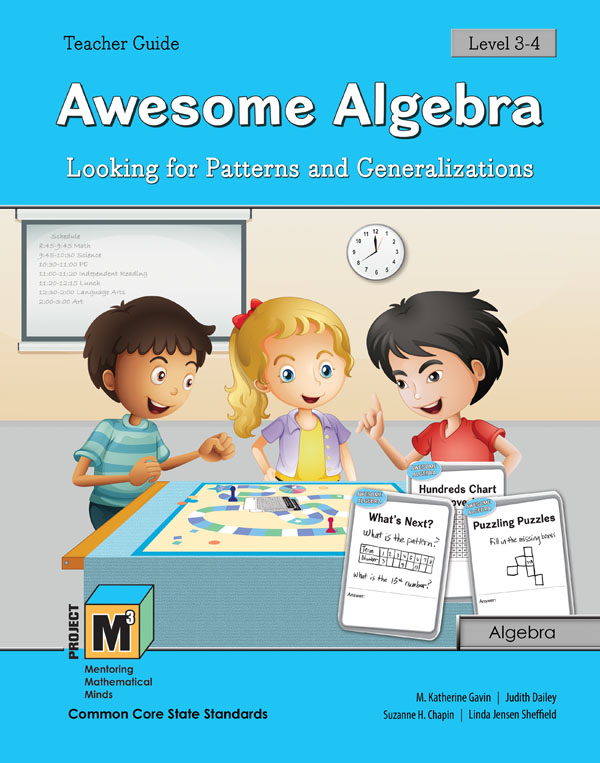 Project M3: Level 3-4: Awesome Algebra: Looking for Patterns & Generalization Teacher 3 Year Online License