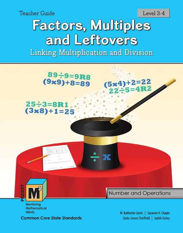 Project M3: Level 3-4: Factors, Multiples & Leftovers: Linking Multiplication & Division Teacher 3 Year Online License