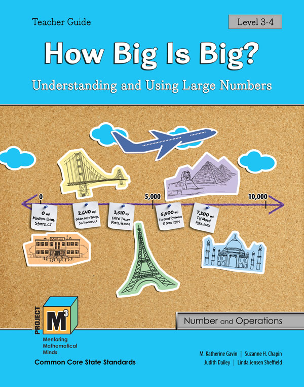 Project M3: Level 3-4: How Big is Big? Understanding and Using Large Numbers Teacher 3 Year Online License
