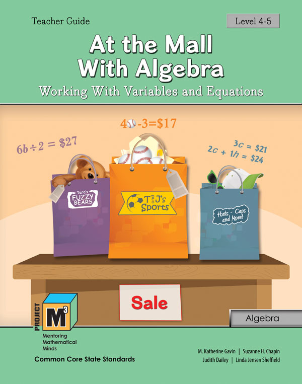 Project M3: Level 4-5: At the Mall with Algebra: Working with Variable & Equations Teacher 3 Year Online License