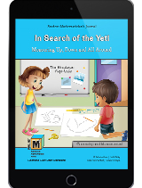 Project M3: Level 3-4: In Search of the Yeti: Measuring Up, Down and All Around Student Mathematician's Journal 1 Year License