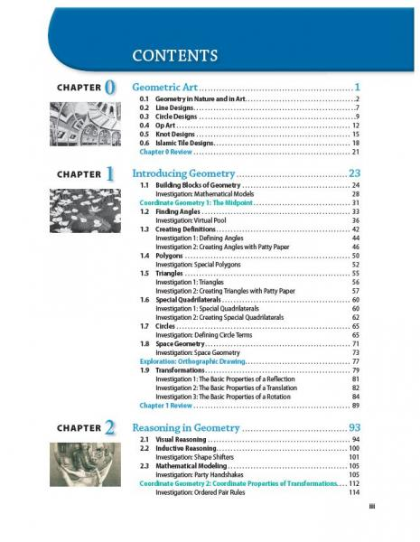 Discovering geometry an investigative approach student edition dg toc page iii fandeluxe Choice Image