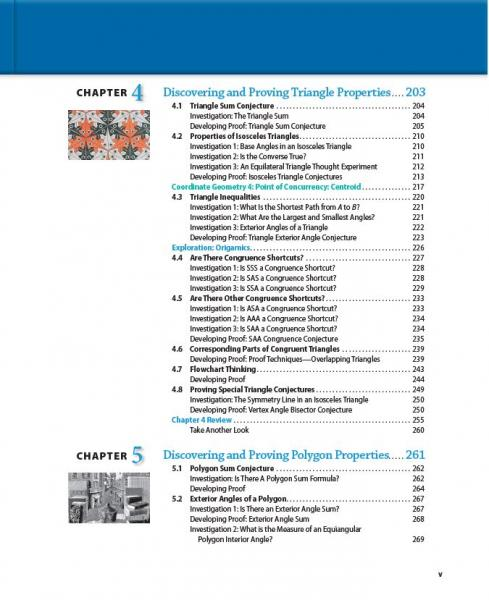 Discovering geometry student edition prek 12 jpg dg toc page v fandeluxe Image collections