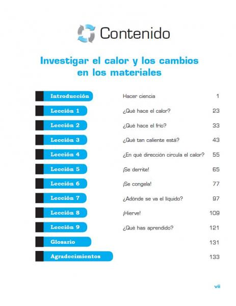 Investigating Heat Spanish TOC page vii.JPG
