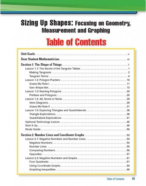MI C1U2 Sizing Up Shapes SE TOC page iii.JPG