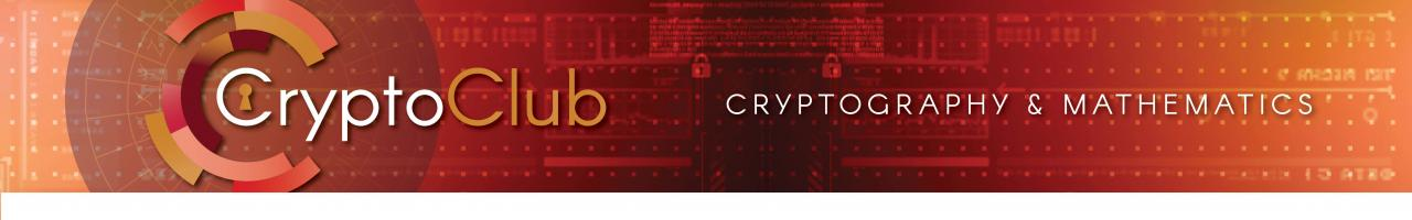 CryptoClub: Cryptography and Mathematics Curriculum
